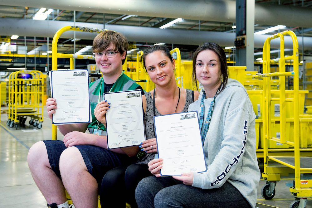 Amazon apprentices celebrate career milestone