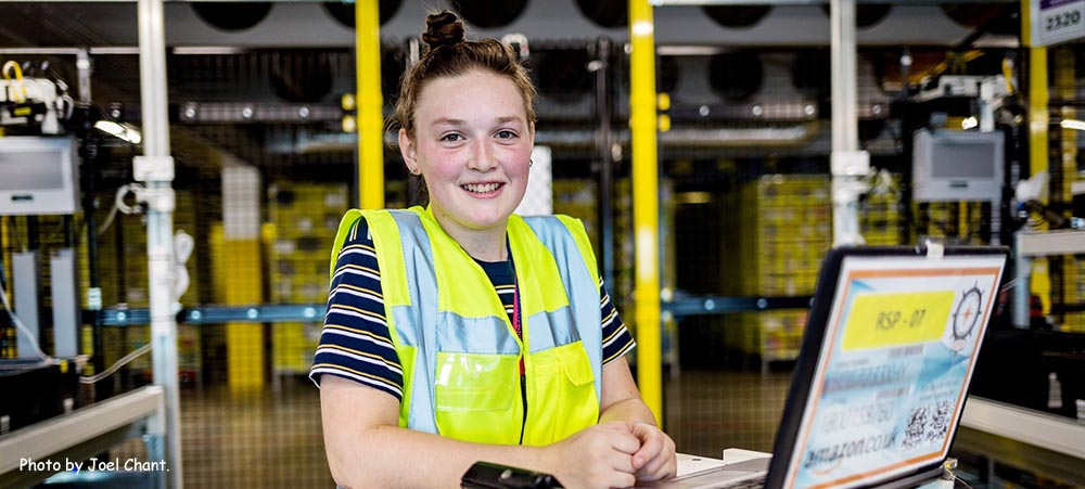 Amazon Operations Apprentice Rosie McCarthy wins Seattle trip