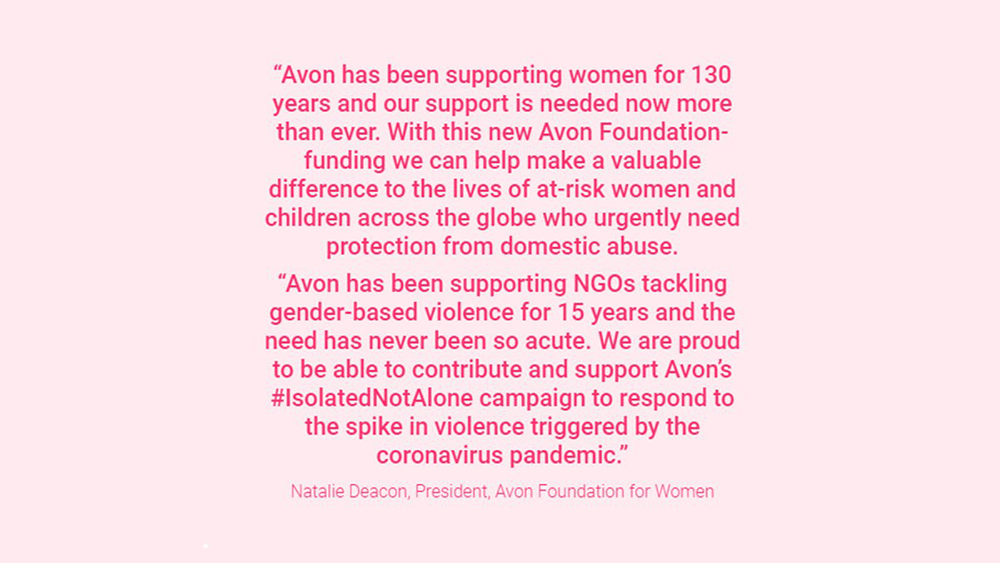 Avon pledges $1m to help tackle domestic abuse