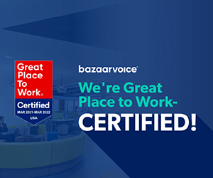 Employees name Bazaarvoice a Great Place to Work