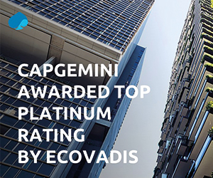 Capgemini awarded as a responsible, sustainable business