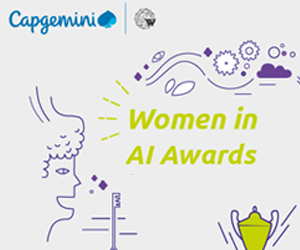 Capgemini powers Women in Artificial Intelligence Awards