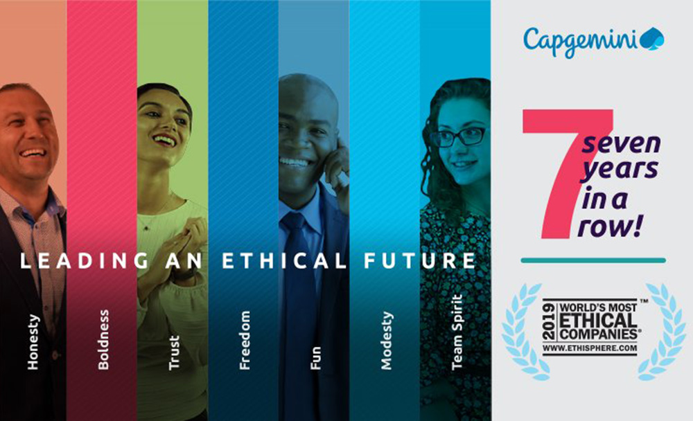 Capgemini named one of Worlds Most Ethical Companies