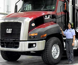 Jana enjoys the pride she feels from working at Caterpillar