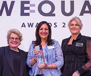 Diageo Managing Director Hina celebrated at WeQual Awards