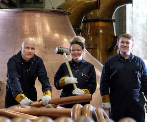 Diageo introduces Scotland first female coppersmith apprentice