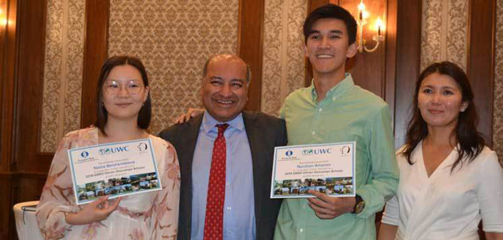 Two students win prestigious EBRD Olivier Descamps award