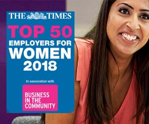 EY named in The Times Top 50 Employers for Women