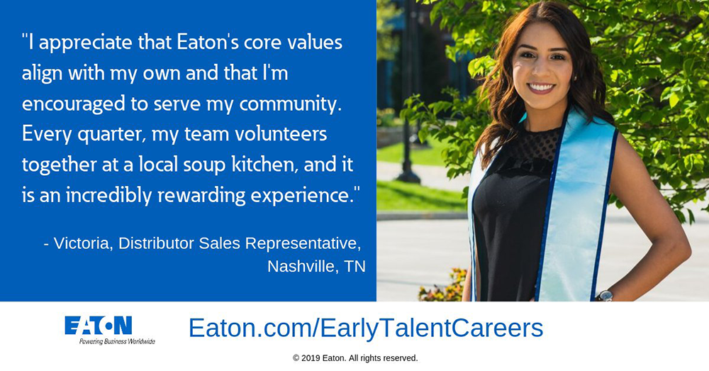 Eaton internships offer a great launchpad for women like Victoria