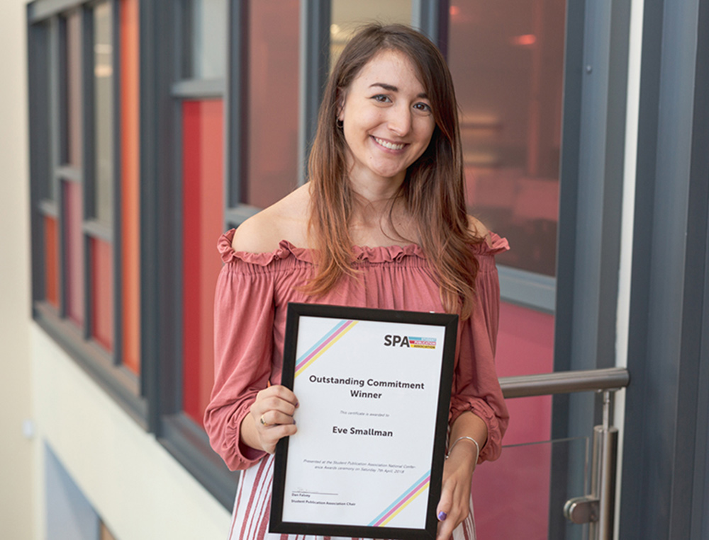 Nottingham Trent University student wins journalism award