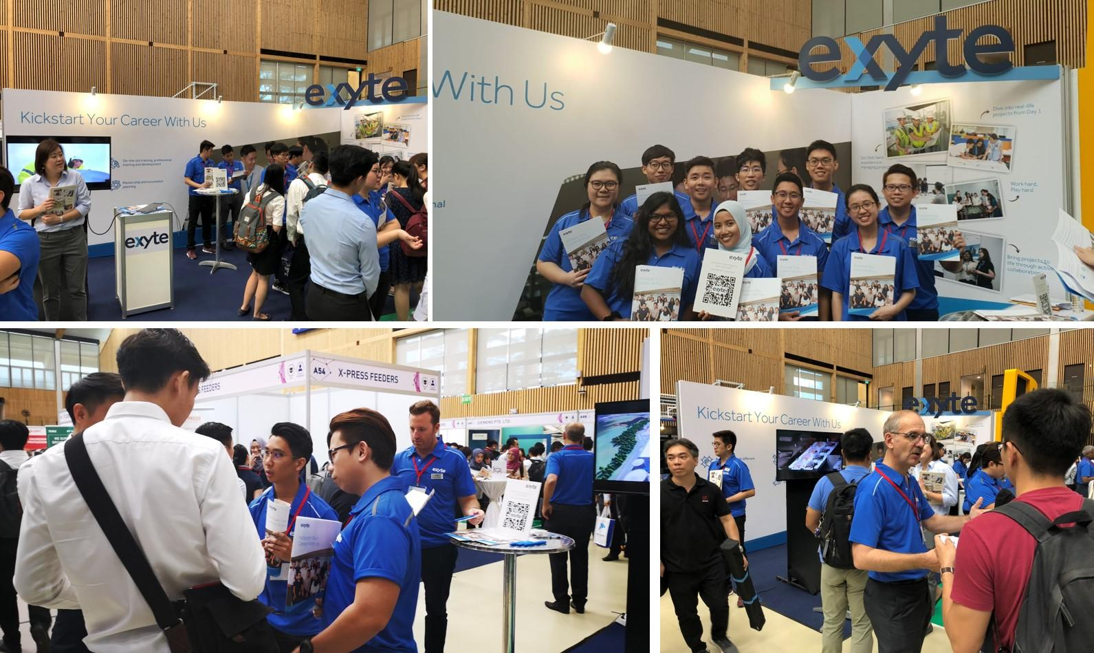 Exyte networks with graduates at University Career Fair, Singapore