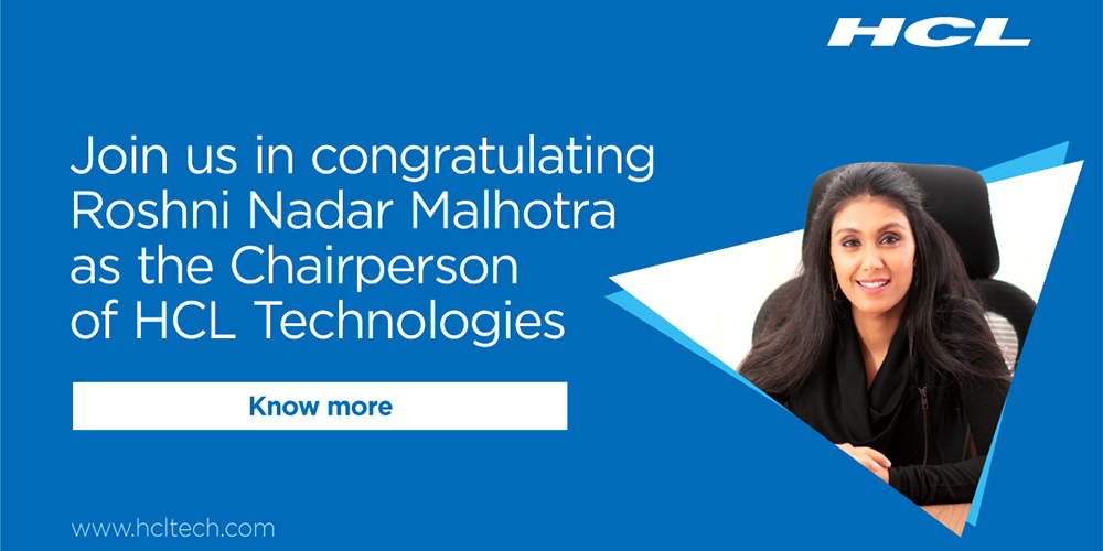 Roshni Nadar Malhotra appointed Chairperson of HCL Technologies