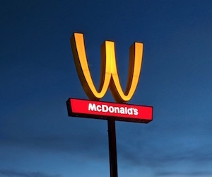 McDonald flip golden arches to celebrate women