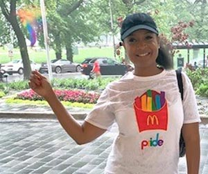 McDonalds Field People Officer an LGBTQ + Black community ally