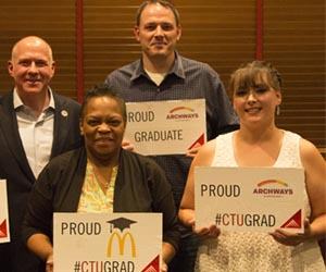 McDonald restaurant employees supported through education