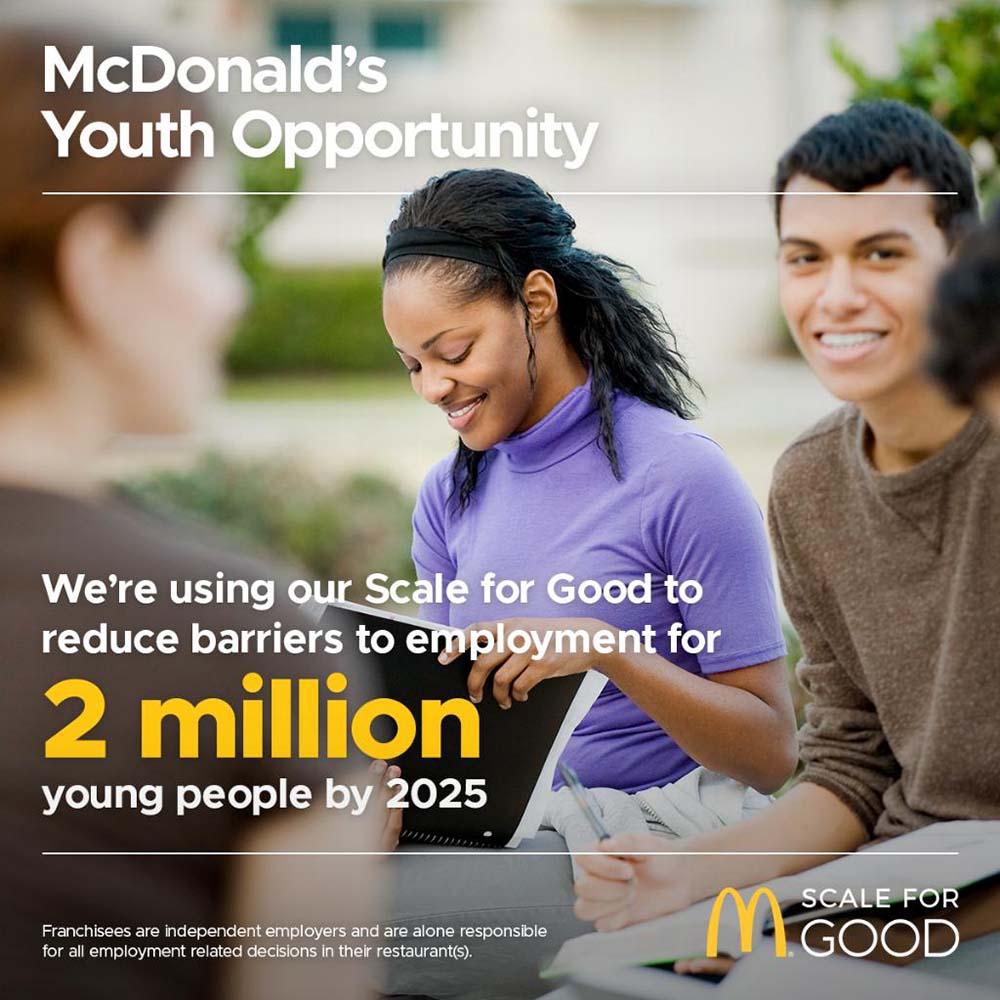 McDonalds supports inclusive and rights-based youth employment