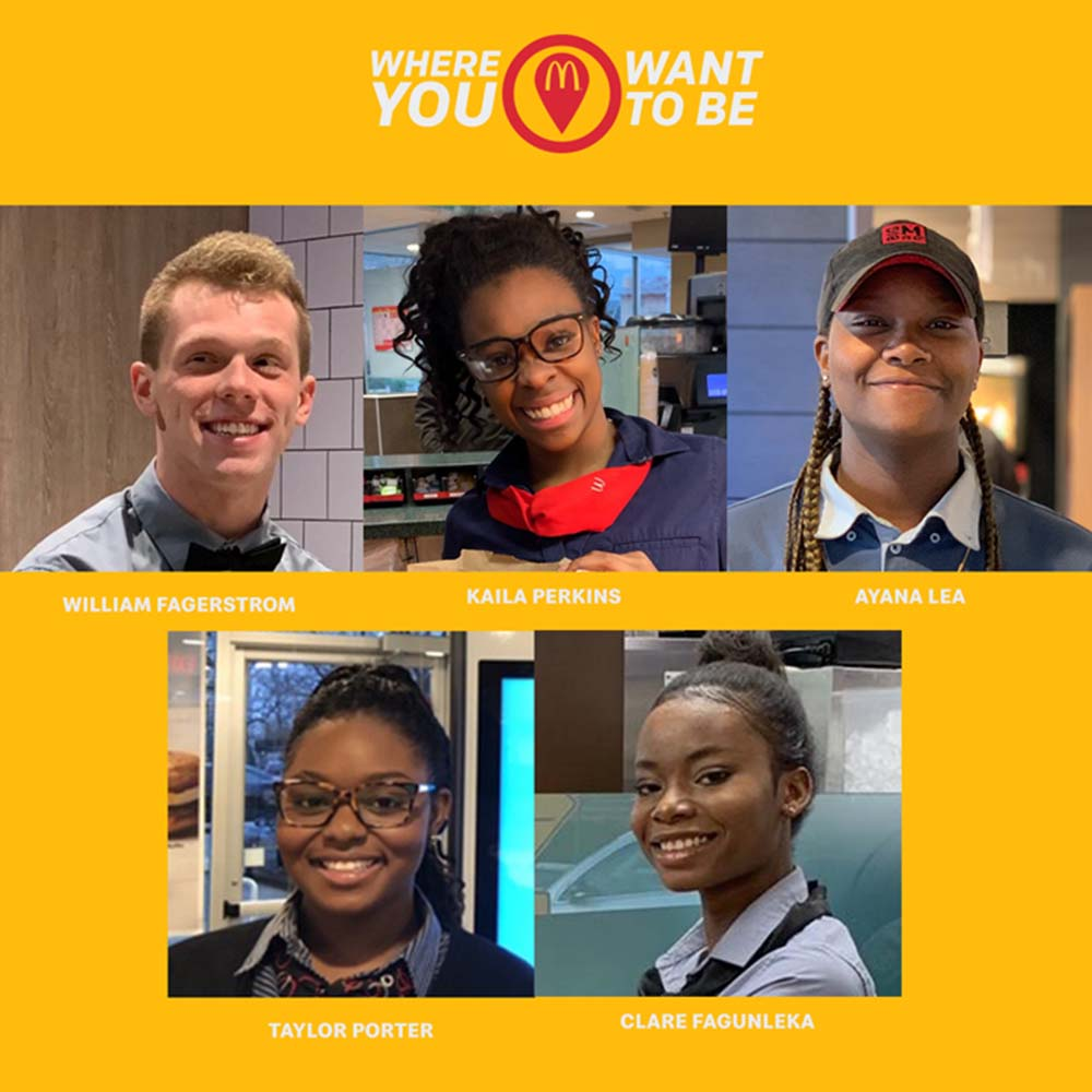 McDonalds colleagues work towards their career dreams