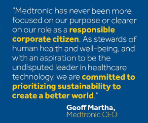 Medtronic celebrated on Dow Jones Sustainability Index