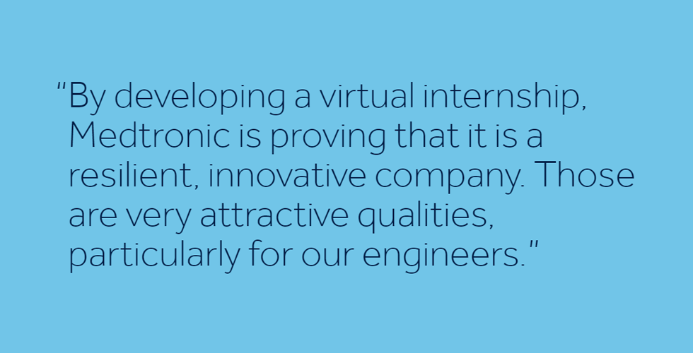 Medtronic honors commitment to interns with virtual program