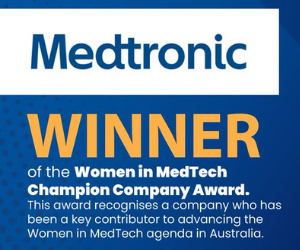 Medtronic wins award for advancing women in MedTech