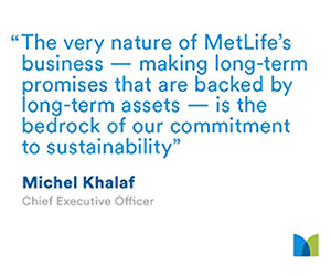 MetLife honoured as top company in Dow Jones Sustainability Index