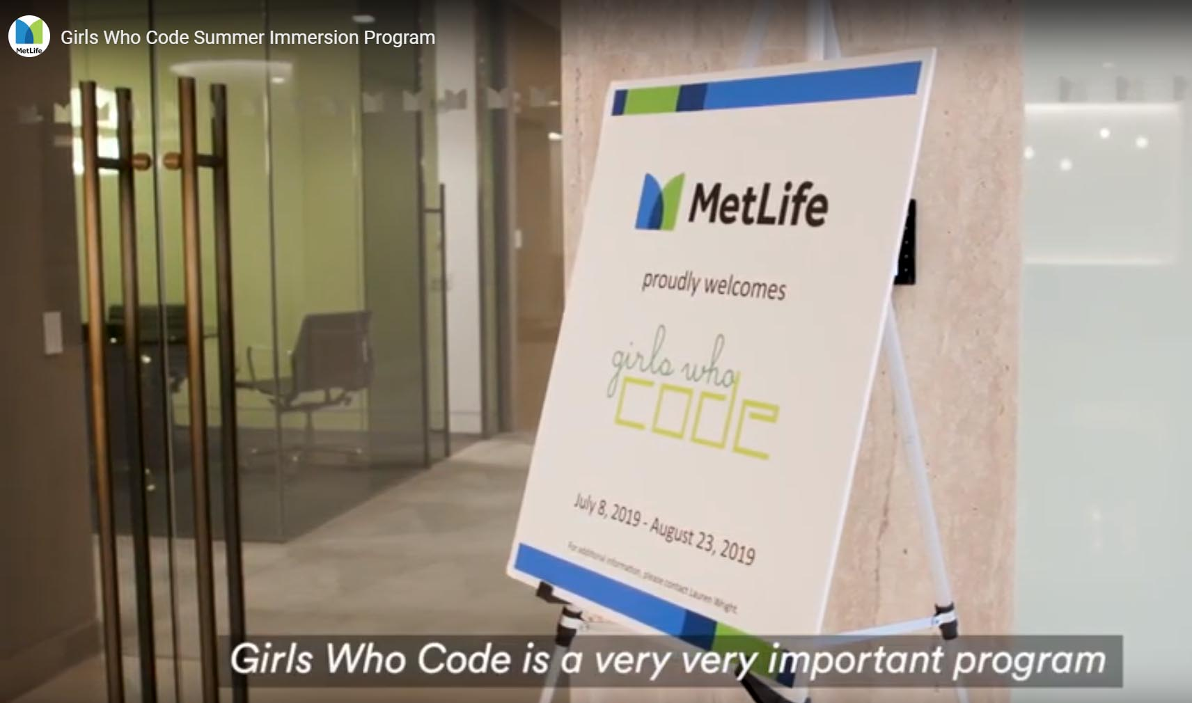 MetLife Girls Who Code Program participants thrilled with support