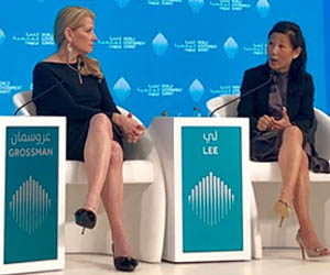 MetLife CMO Esther Lee speaks at World Government Summit