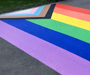 Nottingham Trent University unveils campus Rainbow Crossing