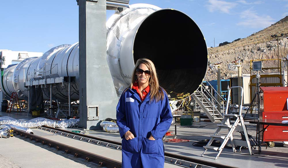 Northrop Grummans Trina Patterson tests rockets