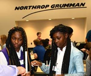 Women students at Northrop Grumman