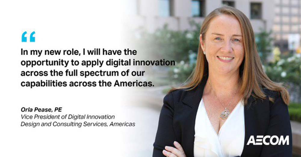 Orla Pease is named AECOM's Vice President of Digital Innovation