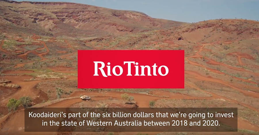 Rio Tinto invests AUD 2.6 billion in Koodaideri iron ore mine