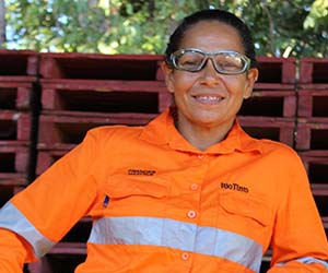 Frances works on helping Rio Tinto rehabilitate land
