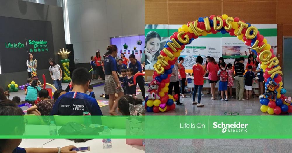 Schneider Electric holds Bring Your Kids to Work Day