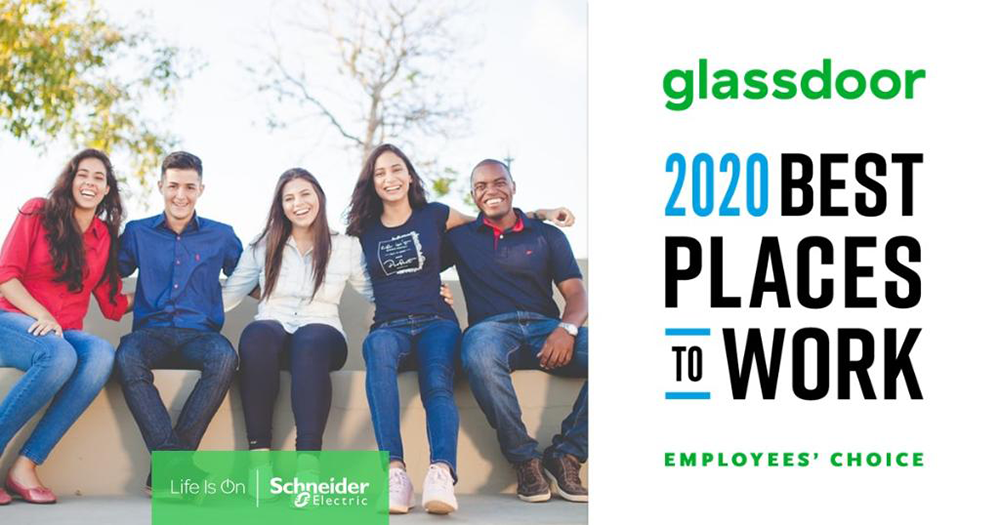 Schneider Electric named a Best Place to Work by Glassdoor