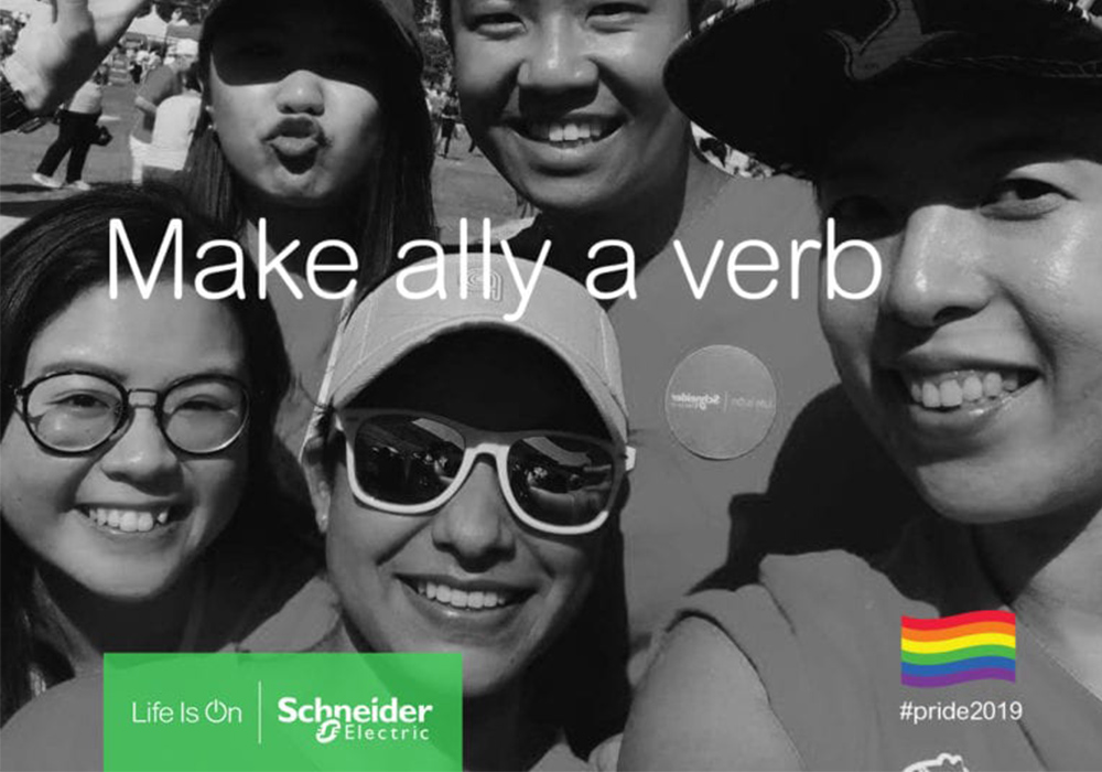 Amy Haddon is a proud LGBT+ ally at Schneider Electric