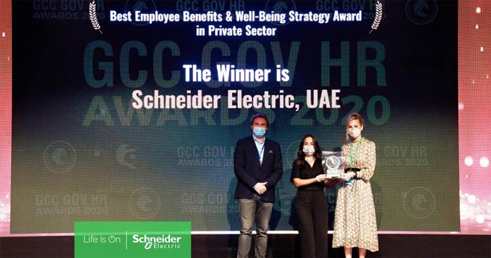 Schneider Electric award win for employee benefits & well-being