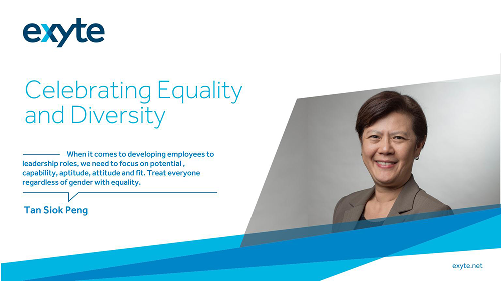 Exyte Senior VP Tan Siok Peng discusses a gender equal society