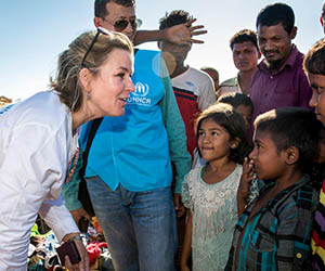 UNHCR Kelly Clements makes a difference to refugees