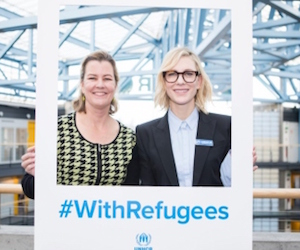 Cate Blanchett meets UNHCR's top woman for International Women's Day