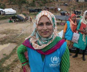 Protection Officers like Shirin love what they do at UNHCR