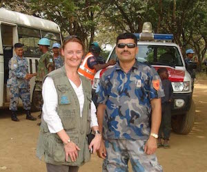 Julie finds her field safety role at UNHCR extremely rewarding