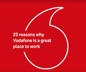 Vodafone is a Sunday Times Top 25 Big Company to work for!