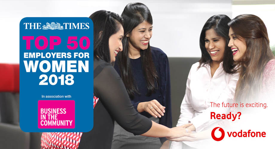 Vodafone is actively helping women advance their careers