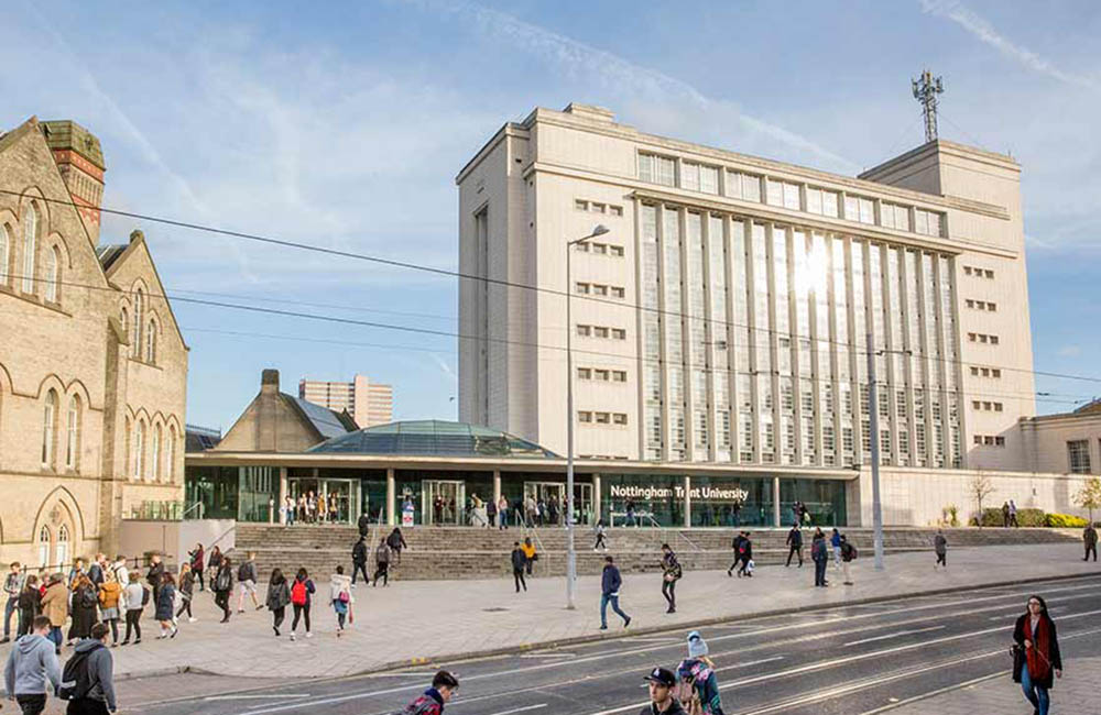 Nottingham Trent University climbs ten places in league tables