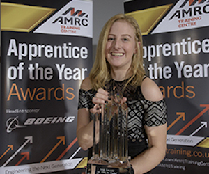 Award winning AMRC apprentice Leigh Worsdale