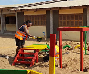 AECOM volunteer Nardia Pyne thrives on exchange trip to Ghana