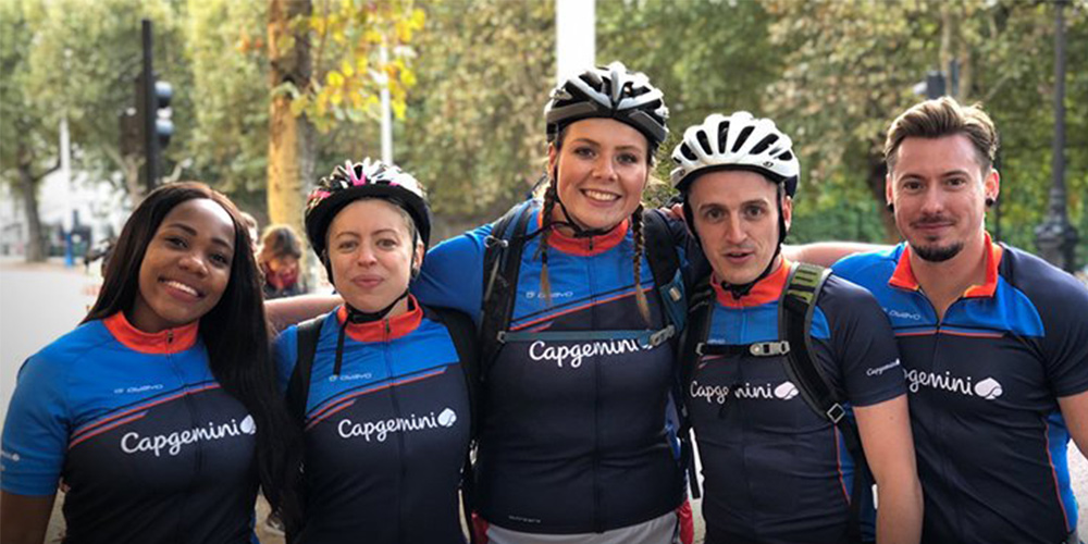 Capgemini employees cycle in support of Princes Trust