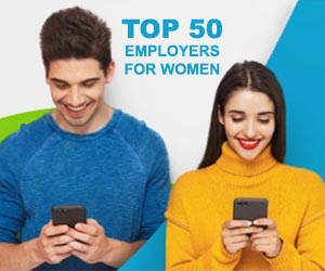 Capgemini celebrated: Times Top 50 Employers for Women 2021