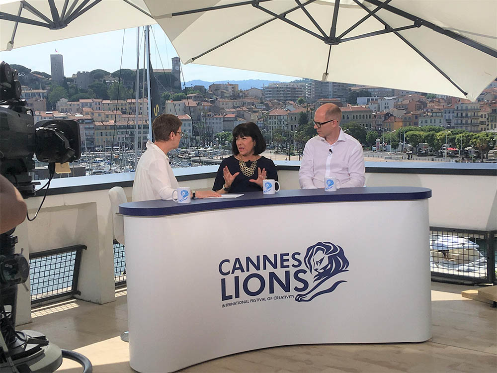 Syl Saller talks gender equality and advertising at Cannes Lions